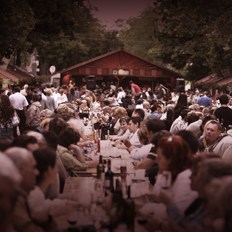 We have the biggest wine festival in Hungary