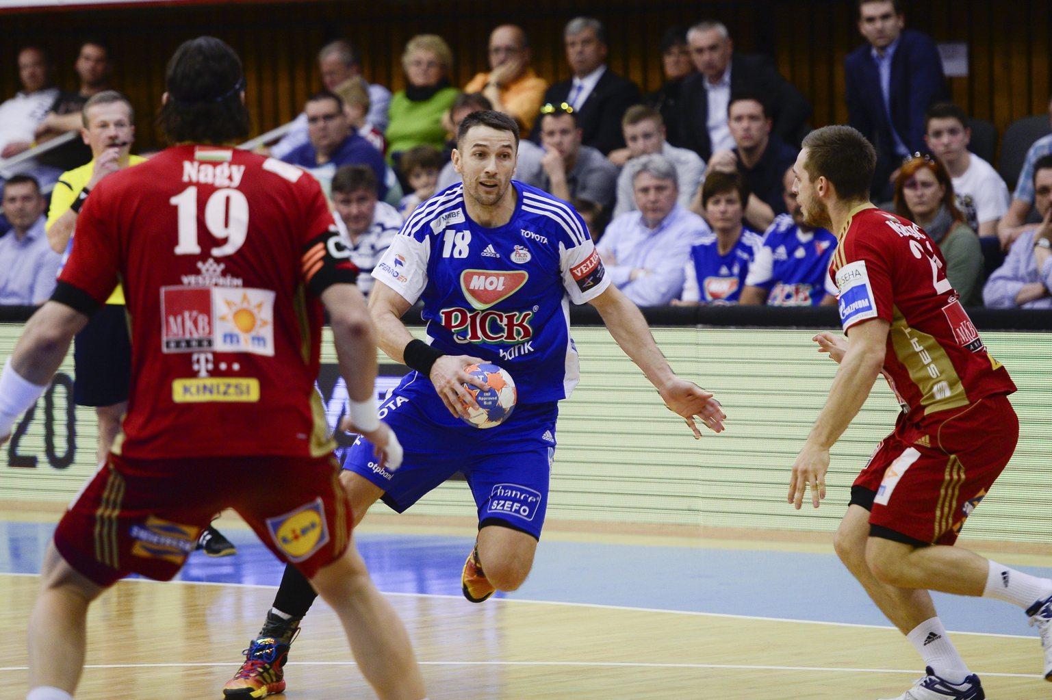 MOL-Pick Szeged – MKB-MVM Veszprém meccs a Széchenyi téri LED falon!