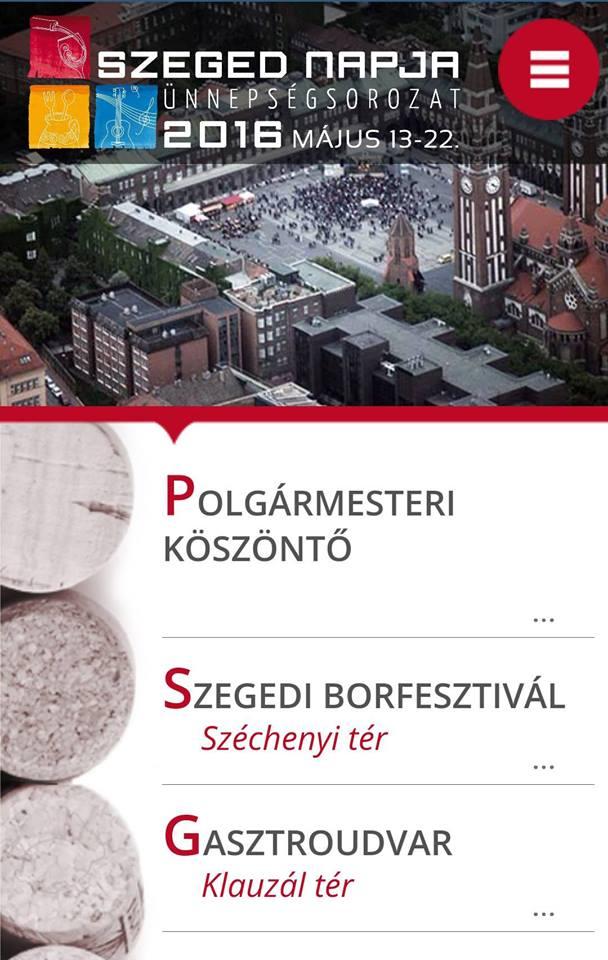 Már letölthető a XXII. Szegedi Borfesztivál applikáció