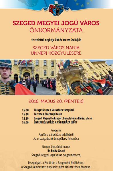 Ünnepi közgyűlés Szeged Napján